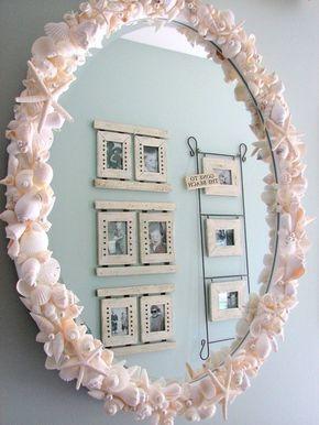 Creative Mirror Frame Ideas Diy Mirror Frame Diy Seashell