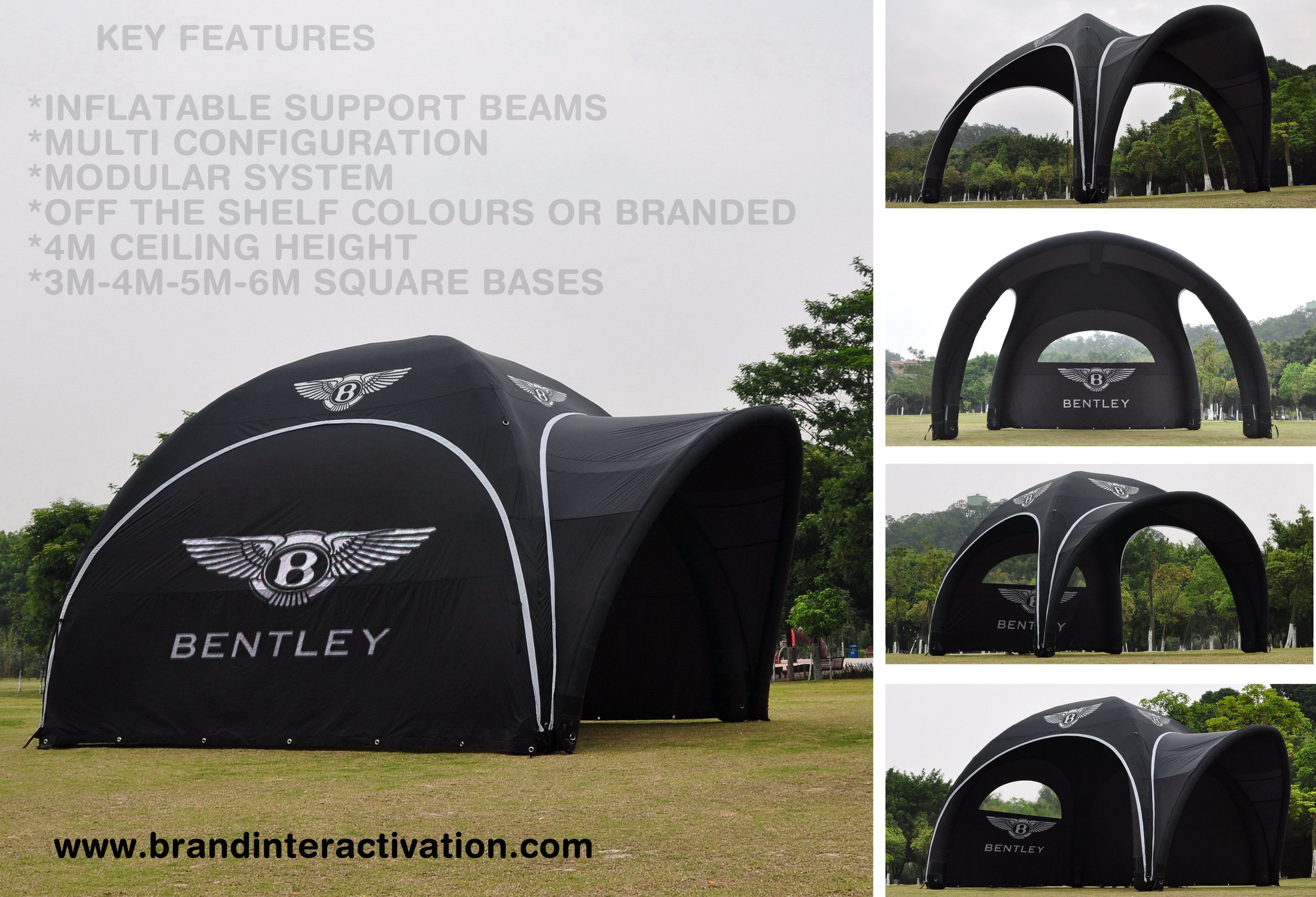 Modular Tent System Bentley Temporary Inflatable Event Structure Shade Drycover