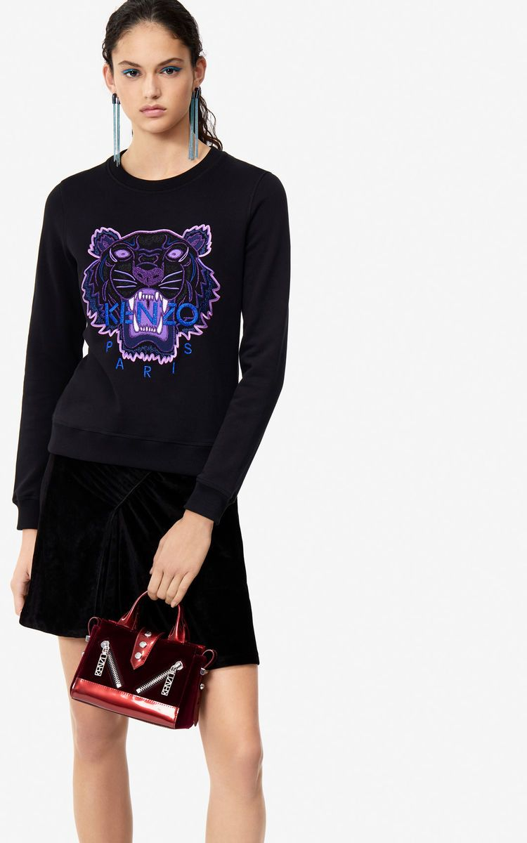 e732ffa9 BLACK Tiger sweatshirt 'Holiday Capsule' for women KENZO | GANT in ...