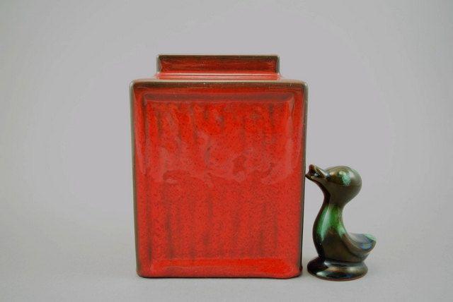 Vintage Vase / Bückeburg / 28 / rot | West Germany | WGP | 70er von ShabbRockRepublic auf Etsy