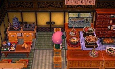 Image result for sushi restaurant acnl room | Japanese ...