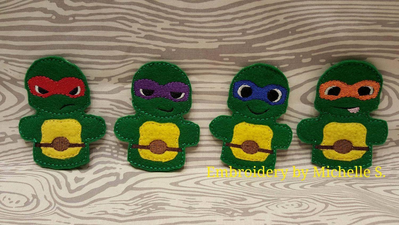 Ninja Turtle Puppet Turtle Puppet Turtle Finger Puppet