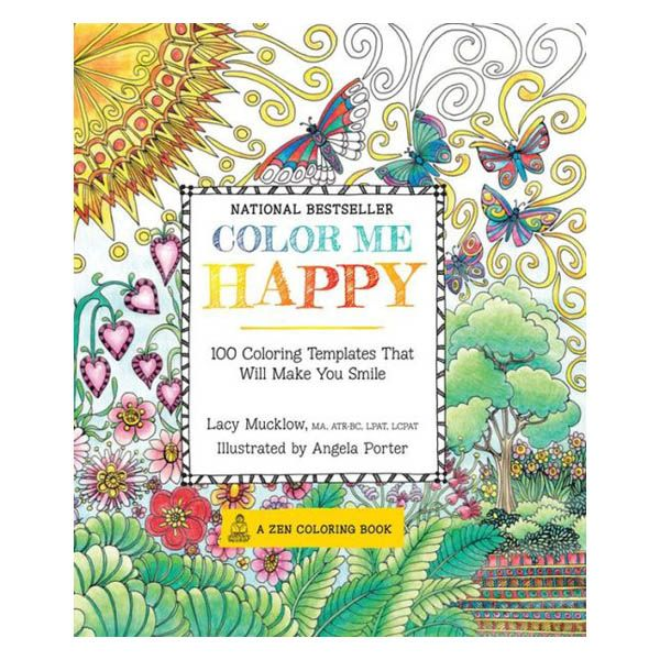 Lacy Mucklow Angela Porter Color Me Happy 100 Coloring Templates That Will Make You Smile Paperba With Images Designs Coloring Books Zen Colors Coloring Books