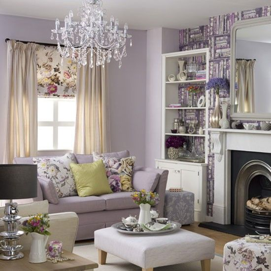 Lilac living rooms on pinterest damask living rooms lavender living