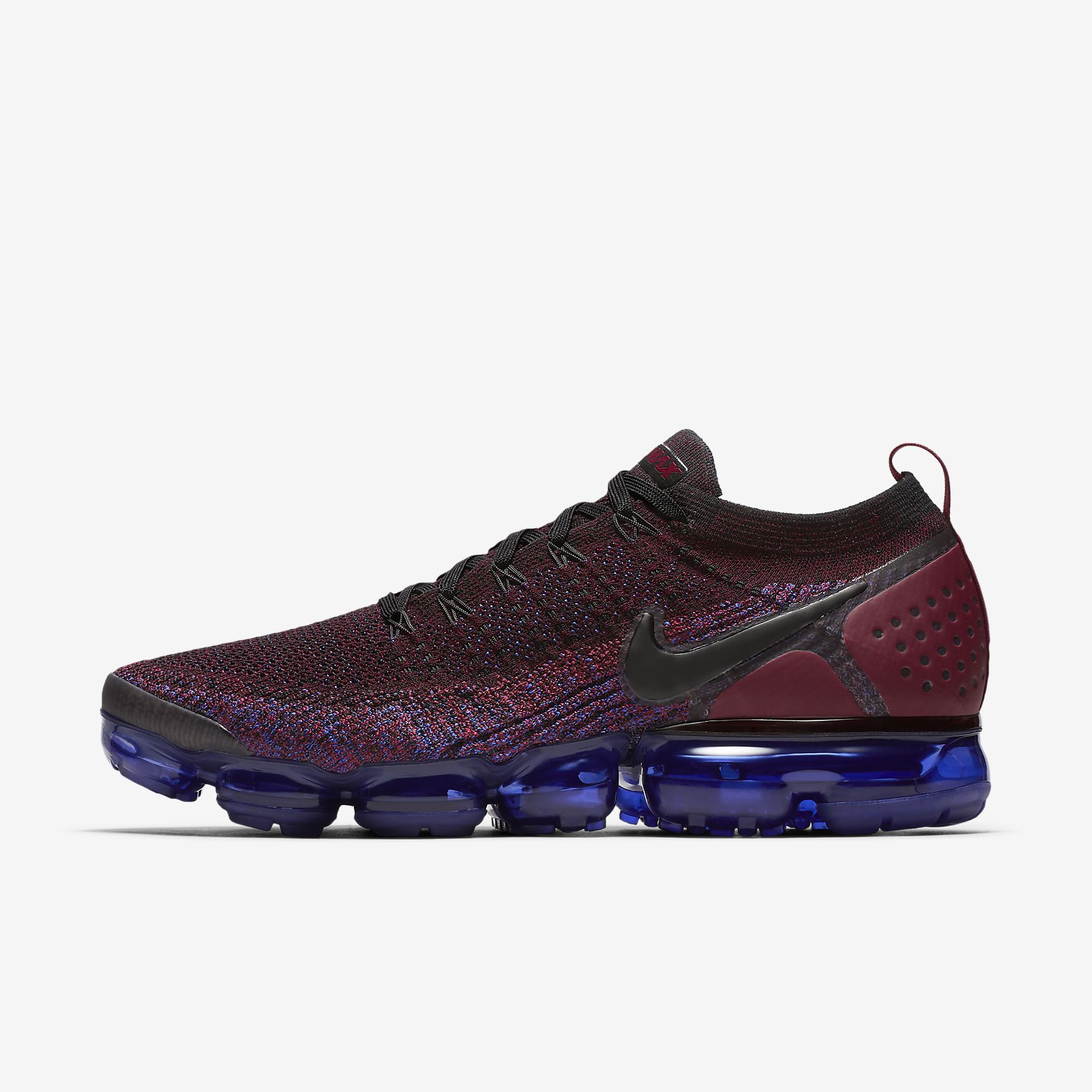 80daed17fb65 Nike Air VaporMax Flyknit 2 Mens Black Team Red Racer Blue Black Sneakers