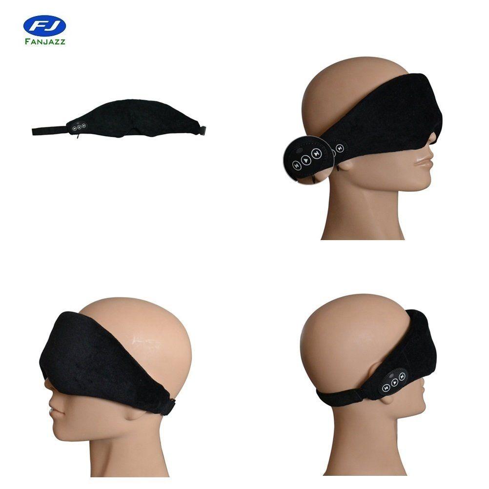 a3d457620aa FanJazz Wireless Bluetooth Eye Mask headphone Sleeping Headphone Eyemask  Built-in Speakers Micophone,Hand