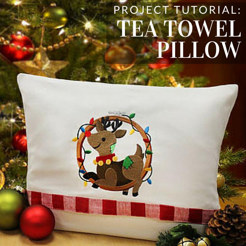 Tea Towels Pillow Talk: Transform A Tea Towel Into A Cozy Pillow Cover With This
