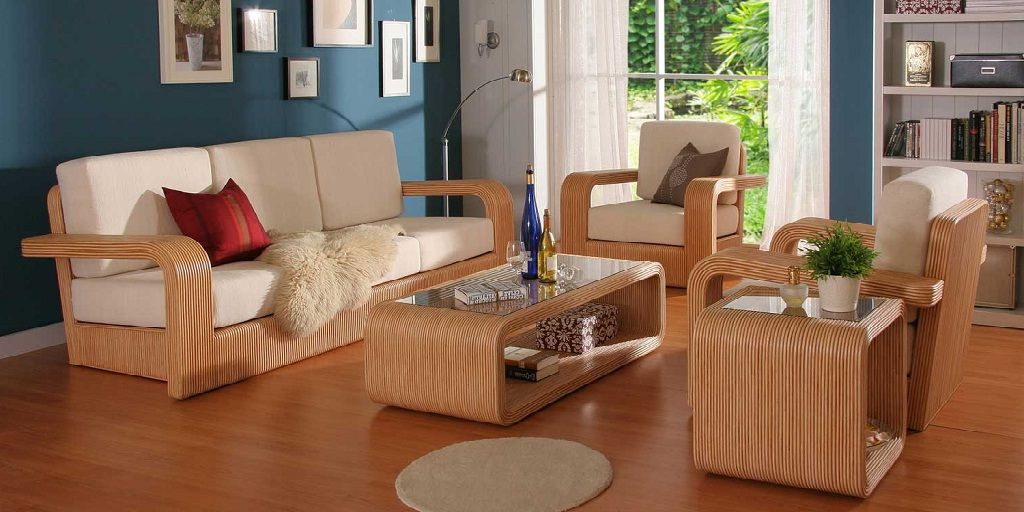 Modern Wooden Sofa Set For Living Room Living Room Furnishings