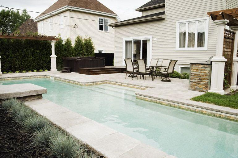 Aménagement paysager  Piscine et spa Au jardin Pinterest - amenagement bord de piscine