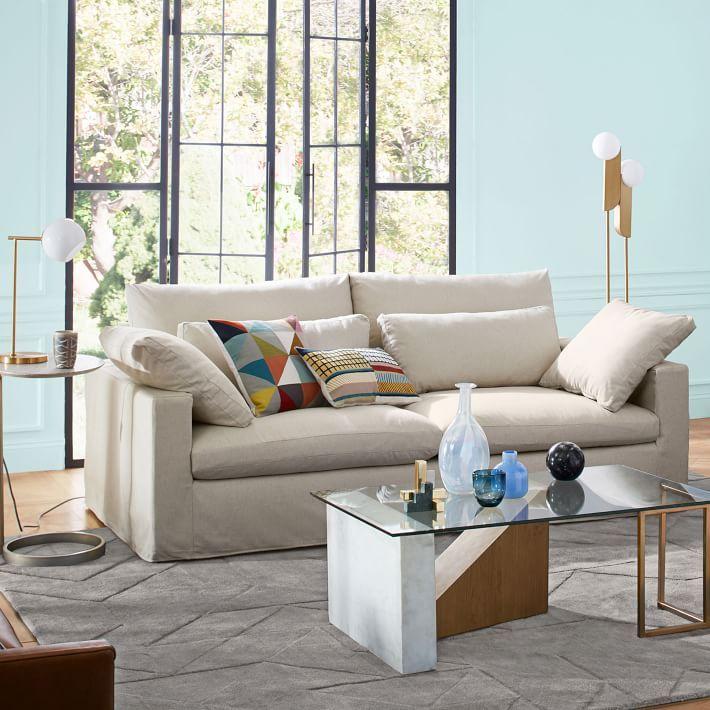 Harmony Slipcovered Sofa (82\