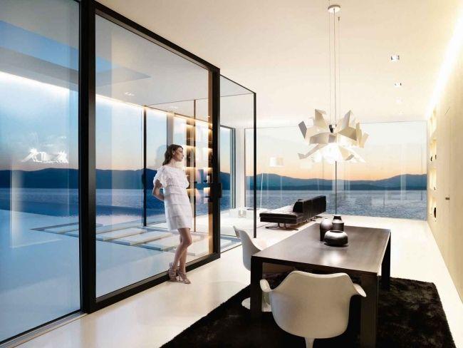 ganzglassysteme josko hersteller schwarze rahmen schiebet ren fenster pinterest fenster. Black Bedroom Furniture Sets. Home Design Ideas