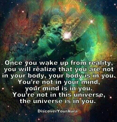 The universe is in you!