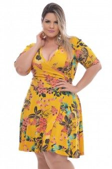 b323aadfc Vestido Plus Size Bela Flor