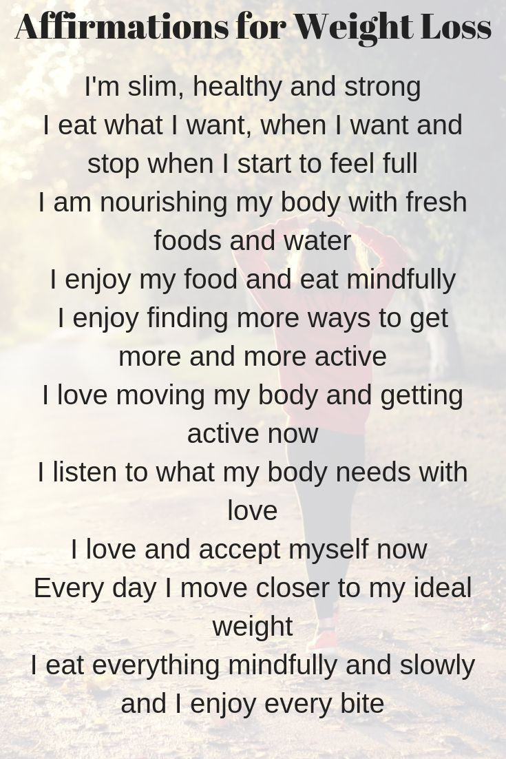 10 affirmations for weight loss with individual affirmation images and an image with all of the weig...