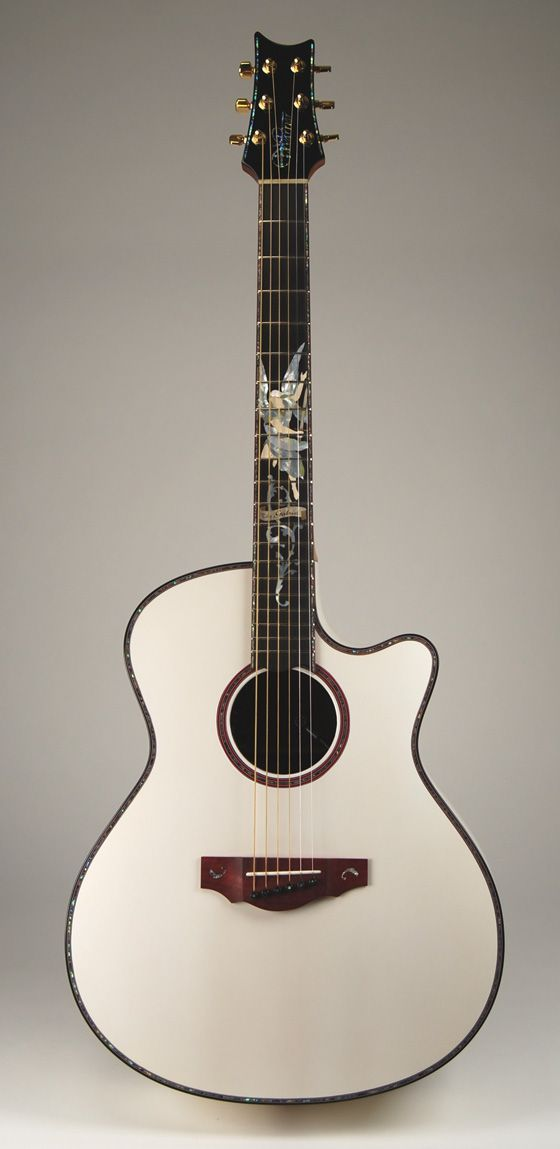 What A Beautiful Guitar I Couldn T Help Myself To Create A New Board For This White Gabriel Concert Guitar Acousticguit Guitar Acoustic Guitar Bass Guitar