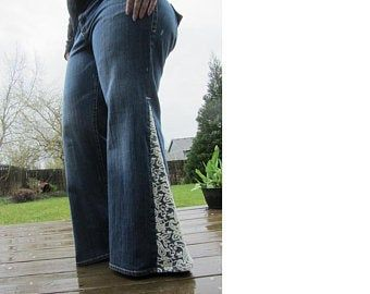Size 6 Bell Bottoms With Lace-Up Sides #excelwordaccessetc