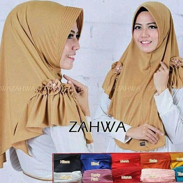 Jilbab Instan Zahwa Jersey Balon Gaya Hijab Model Pakaian Hijab Model Pakaian