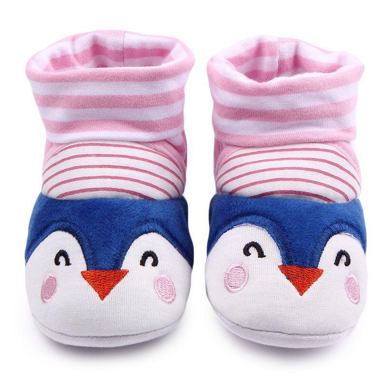 Baby Boy Girl Cartoon Cute Cartoon Penguin Shoe Toddler Shoes Socks Shoe Slipper