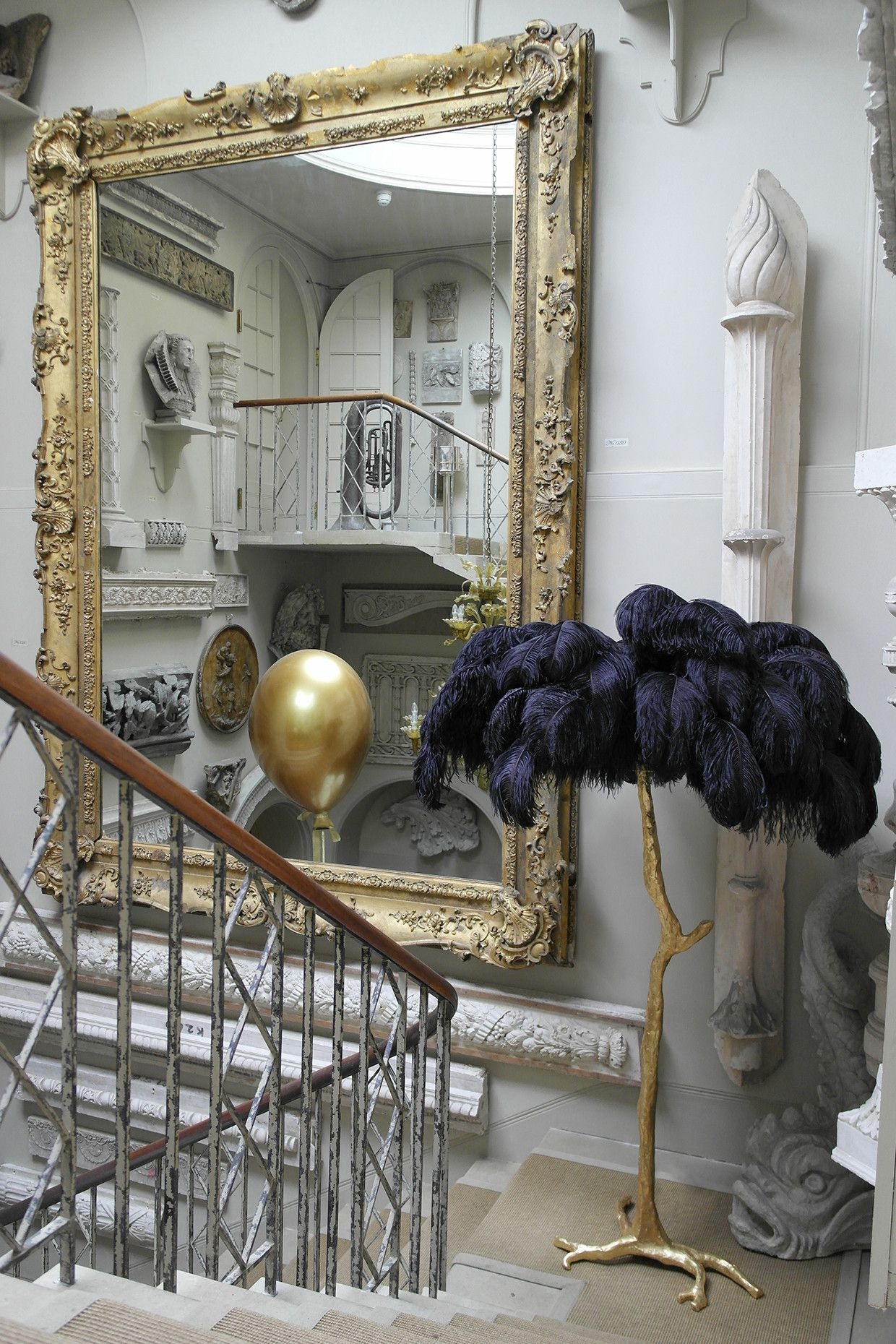 The Ostrich Feather Lamp Black A Modern Grand Tour