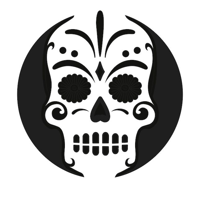 Pumpkin Stencil Sugar Skull Carving Crafts By Customzombie (pumpkin