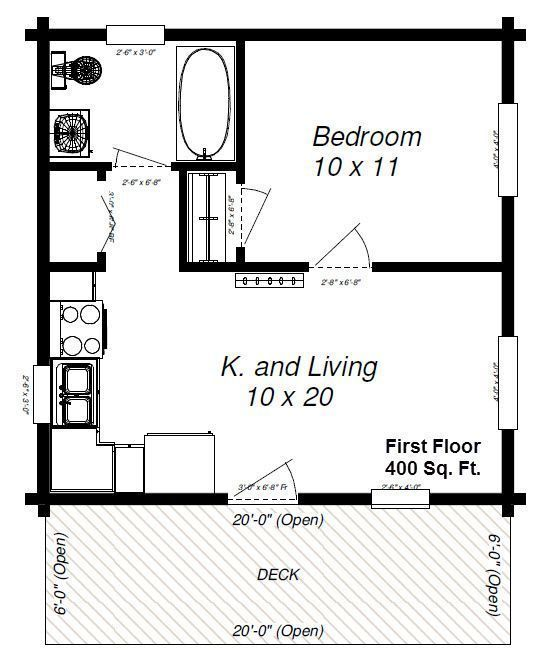 600 Square Foot House Plans Apartmentfloorplans 600 Square Foot House Plans In 2020 One Bedroom House Cabin Floor Plans Tiny House Floor Plans