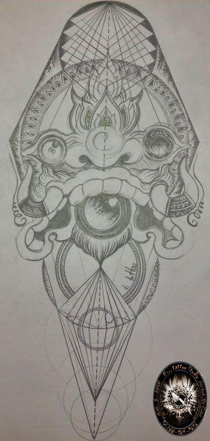 ภาพนนี้มีชื่อเรียกว่า####ความขัดแย้งในสายงาน ความหมายคือ###อยากที่จะเก้าเดินต่อไปกับสิงที่เป็นเราโดยที่ไม่สนใจใคร New poly geometry &neothai https://www.facebook.com/pages/Pti-tattoo-Studio/249682935190828?ref=hl