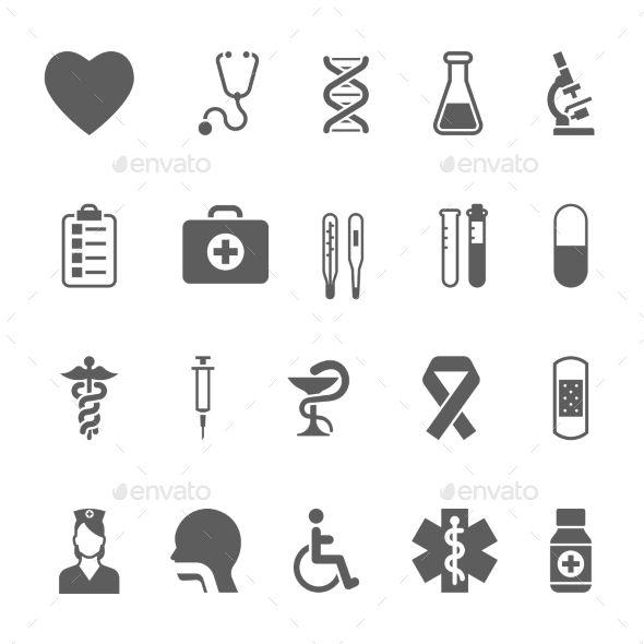 Set of Medical Icons (Vector EPS, CS, aid, ambulance