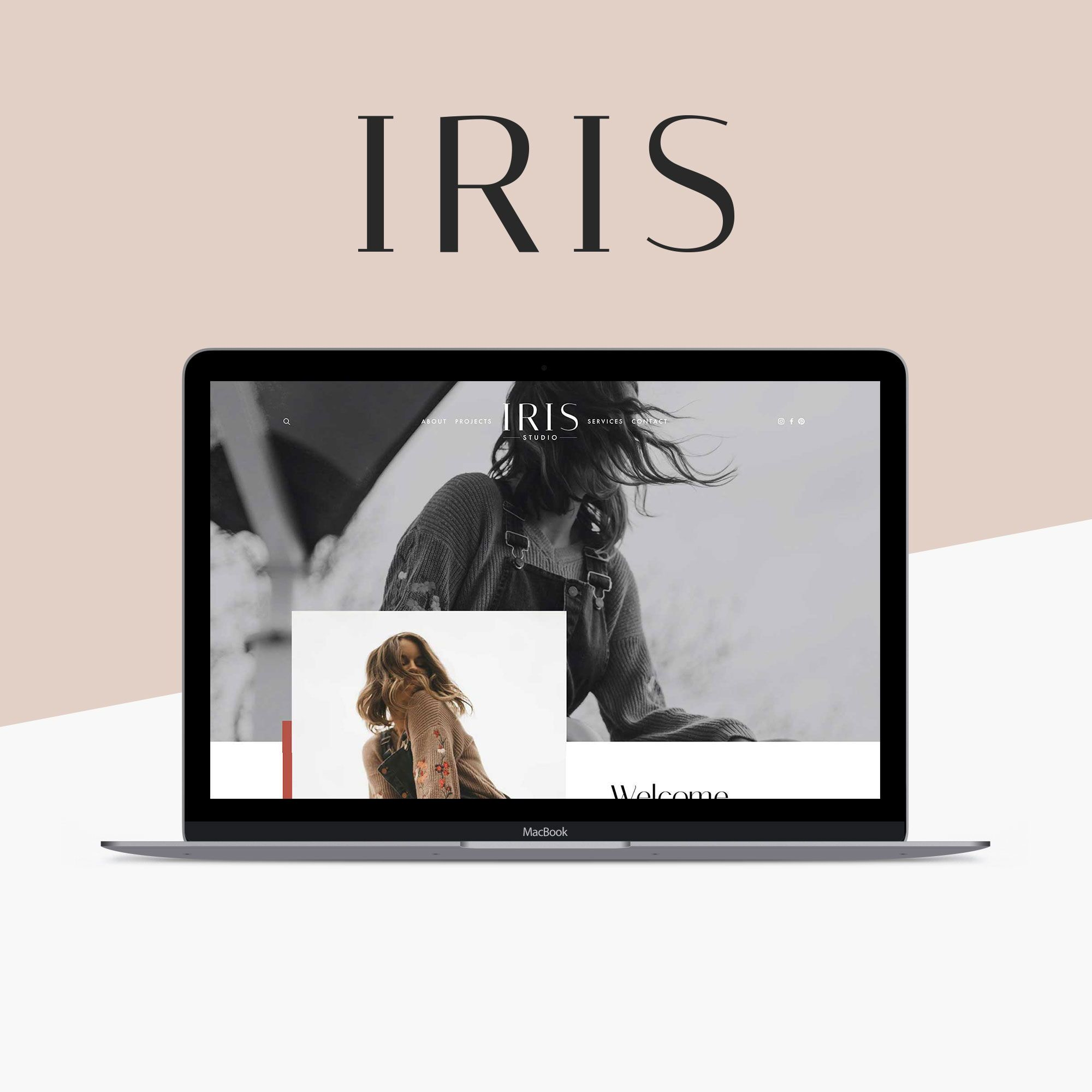 Squarespace Website Template Kit Iris Create Your Gorgeous New Website With Our Easy To Use Squarespace Templates Portfolio Web Design Creative Website Design