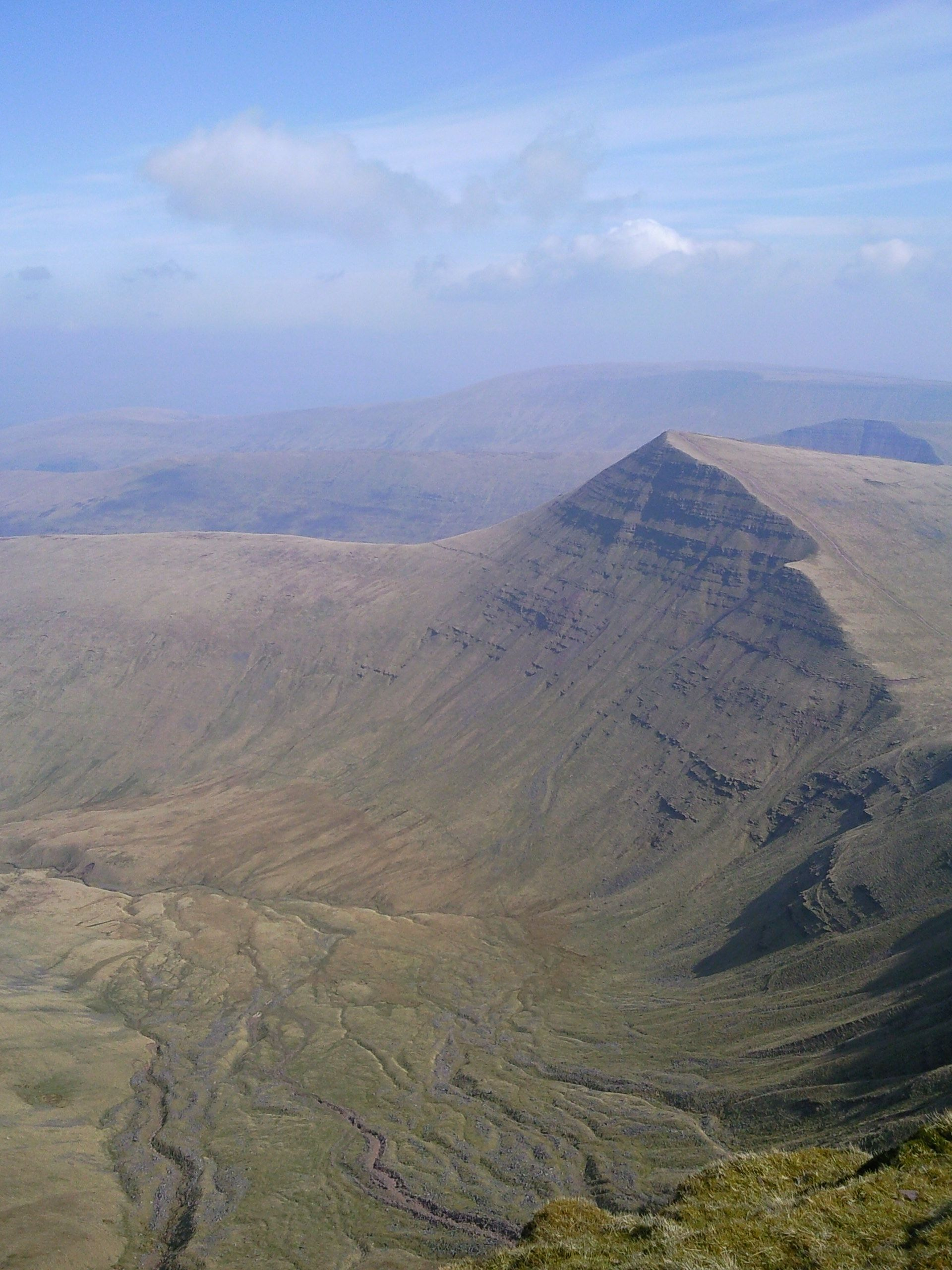 """""""Looking at Cribyn from Pen Y Fan in the Brecon Beacons!"""" - Photo by Gavin Davies"""