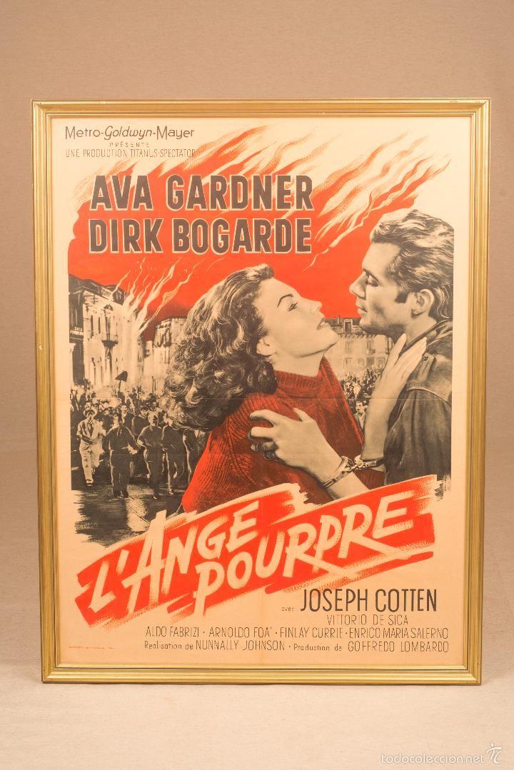 "Cartel original de la película ""L'ange Pourpre""- Joseph Cottien - Foto 1"
