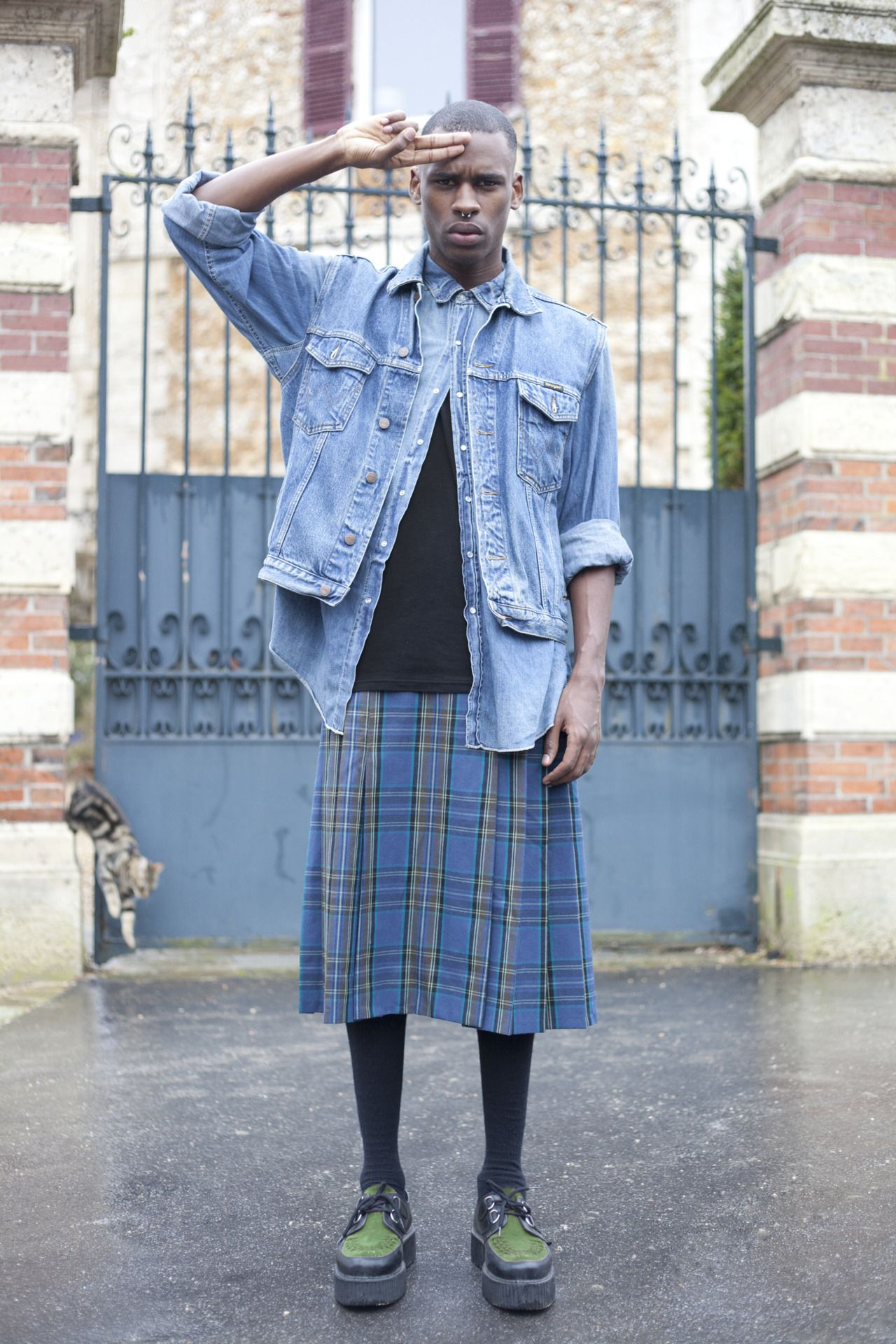 I love me some guys in skirts. On the Street…rue Jean-Pierre ...