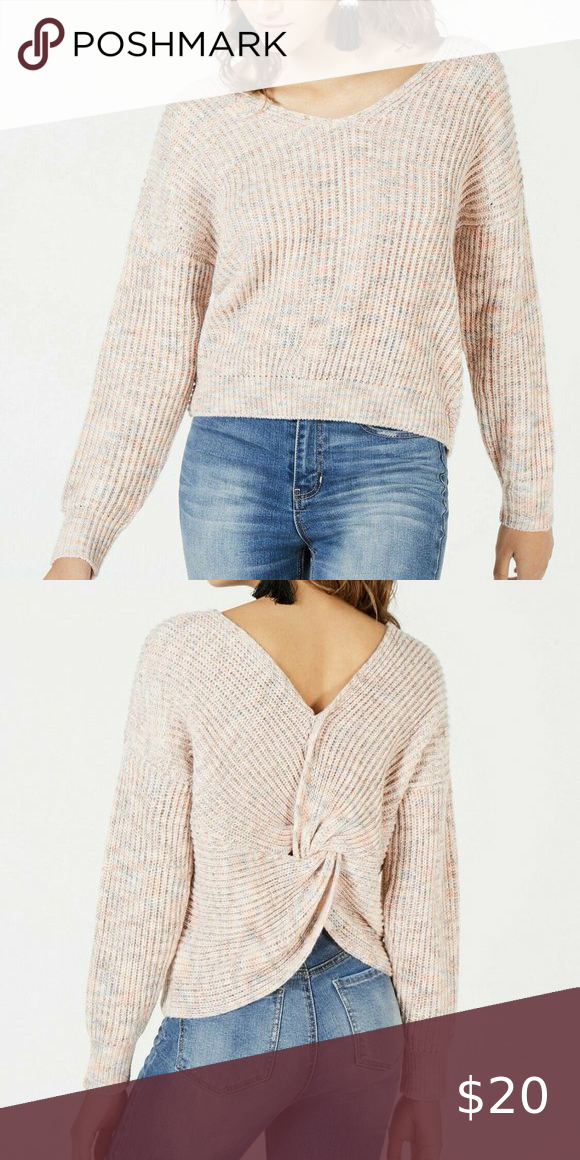 American Rag Juniors Marled Lace-Up Cardigan