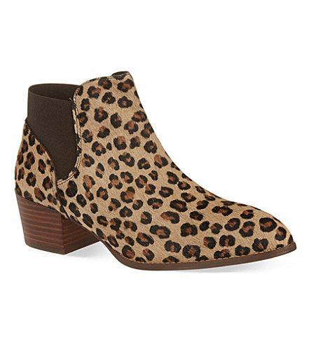 detailing delicate colors genuine shoes KG KURT GEIGER Sport leopard ankle boots (Tan comb