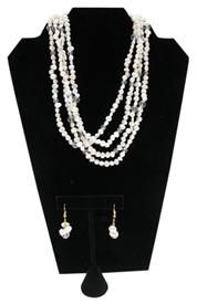 "18"" Fresh Water Pearl Necklace and Earrings Set Some of the favorites from #classiclegacy"