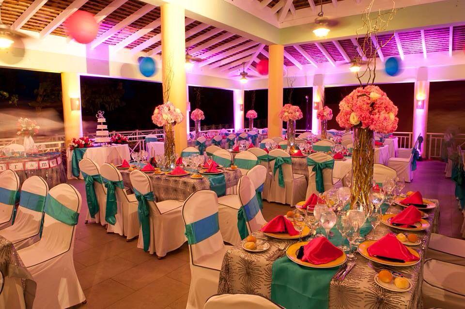 My Gorgeous Aqua Blue Fuchsia Pink Theme Destination