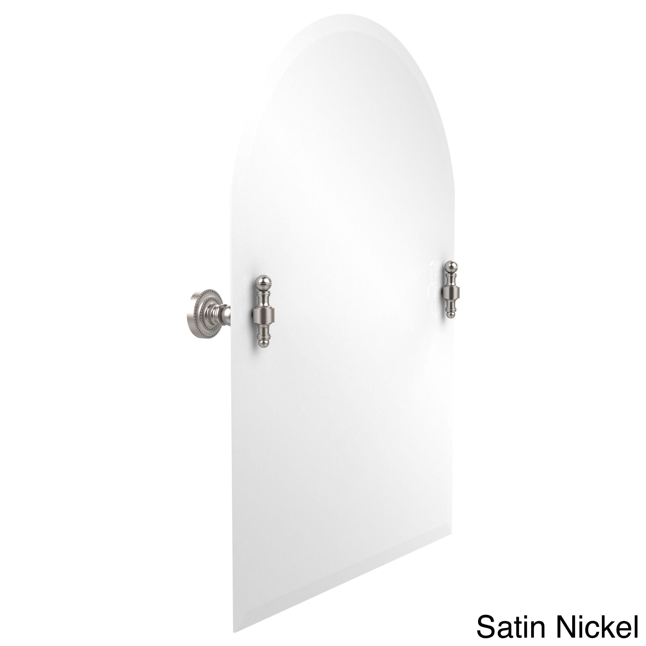 Allied Retro Dot Frameless Arched-top Beveled-edge Tilt Wall Mirror