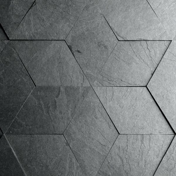 Slate like tiles made from recycled scrap paper laminate materiaux mati re et bloc for Carrelage losange diamant