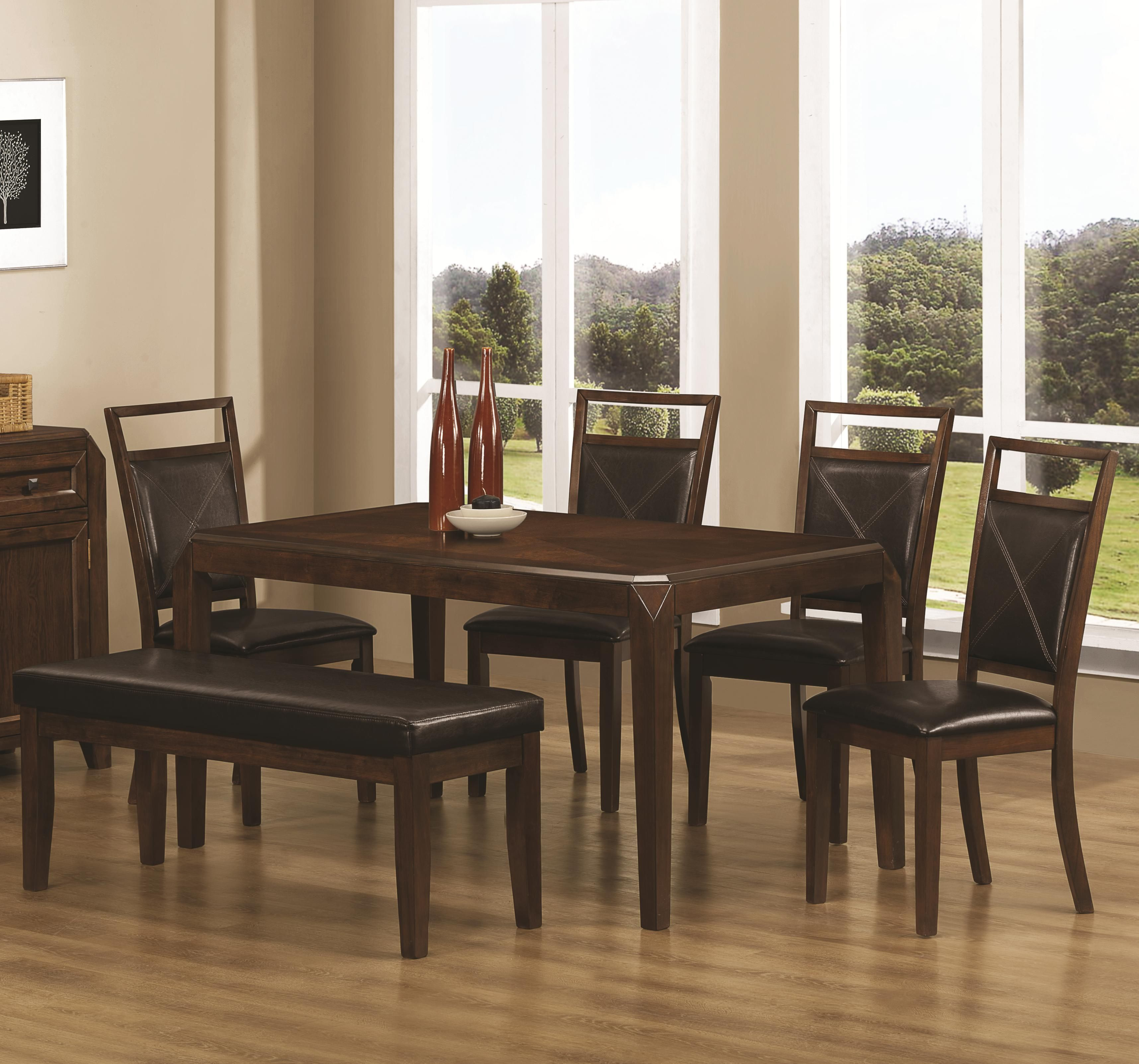 Coaster Matilda 6 Pcdining Set  Only $499 Rectangular Table Amusing Cheap Dining Room Chairs Set Of 6 Review