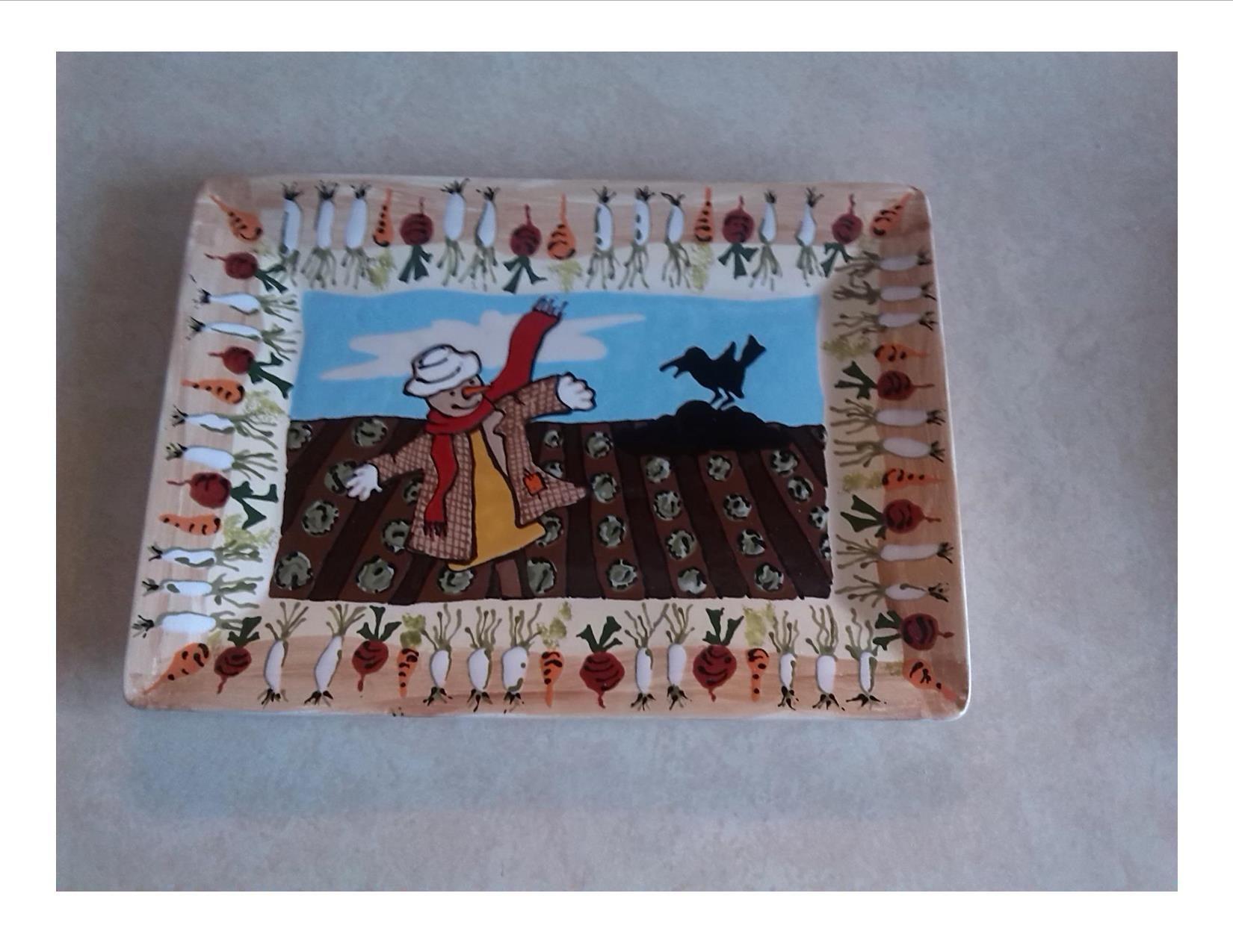 Scarecrow platter