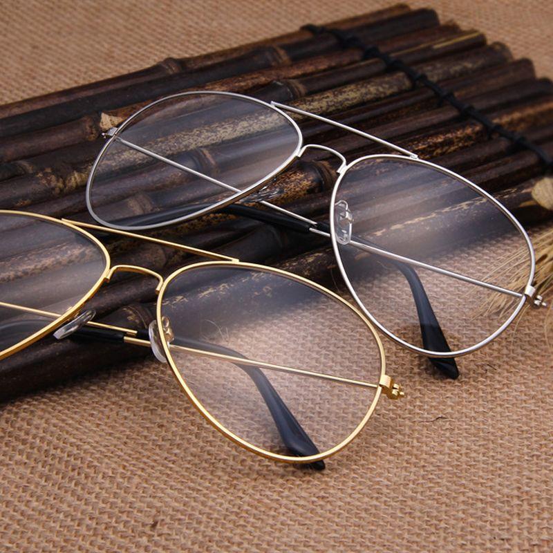 Claro Gafas Retro Gafas de Metal Miopía Gafas Mujeres Hombres ...