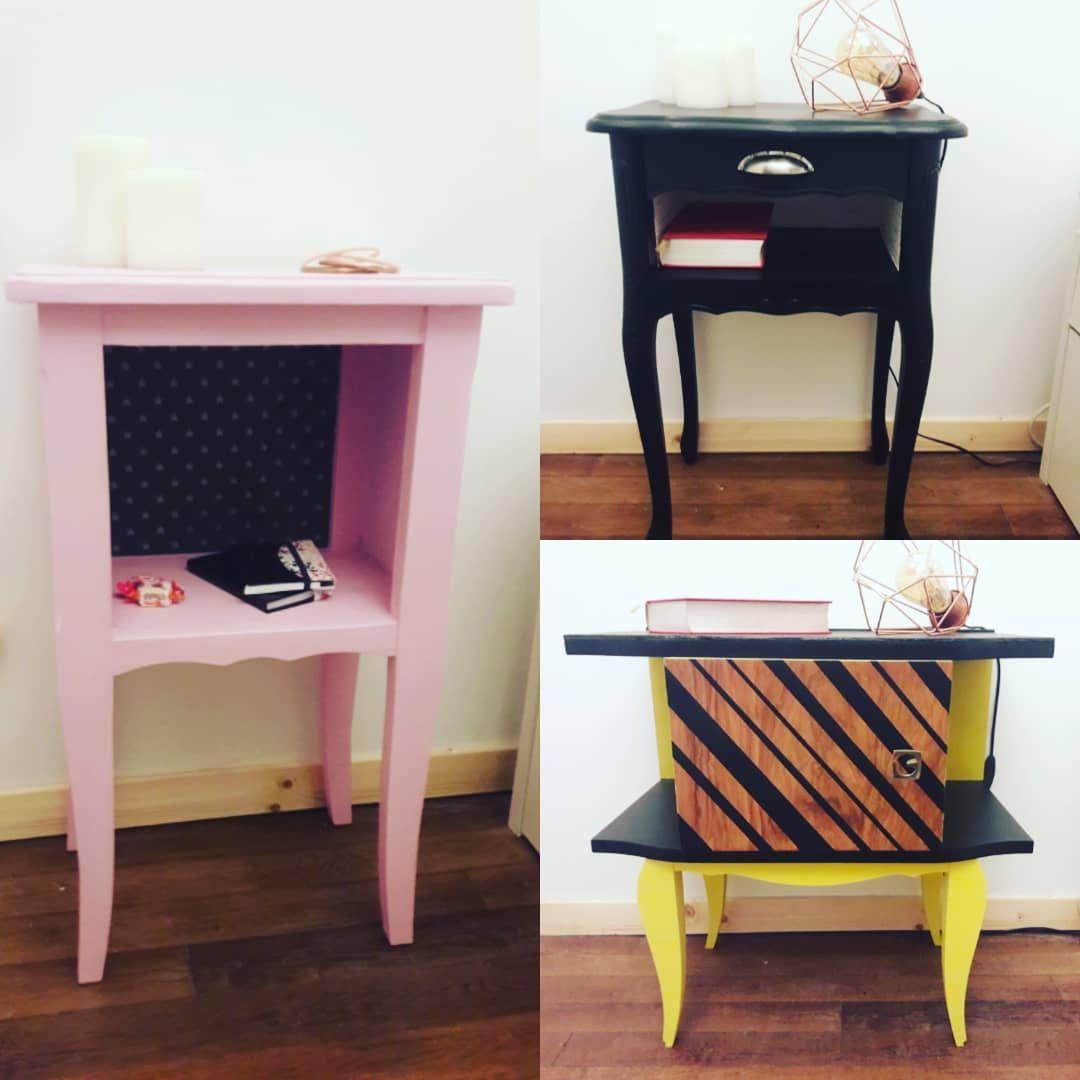 Ables De Chevet Made In Laeti Labricole Custom Meubles Vintage Homestagin Furniture Home Decor Decor