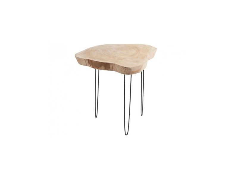 Table basse bois/met nat l 72239 - Vente de JOLIPA - Conforama - Conforama Tables De Cuisine