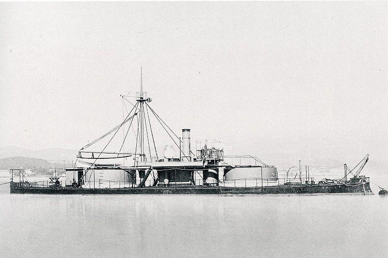 Monitor  para los servicios de urgencia de la armada durante la Guerra Civil estadounidense, y que dio su nombre a este tipo de buques debido a lo revolucionario de su diseño.