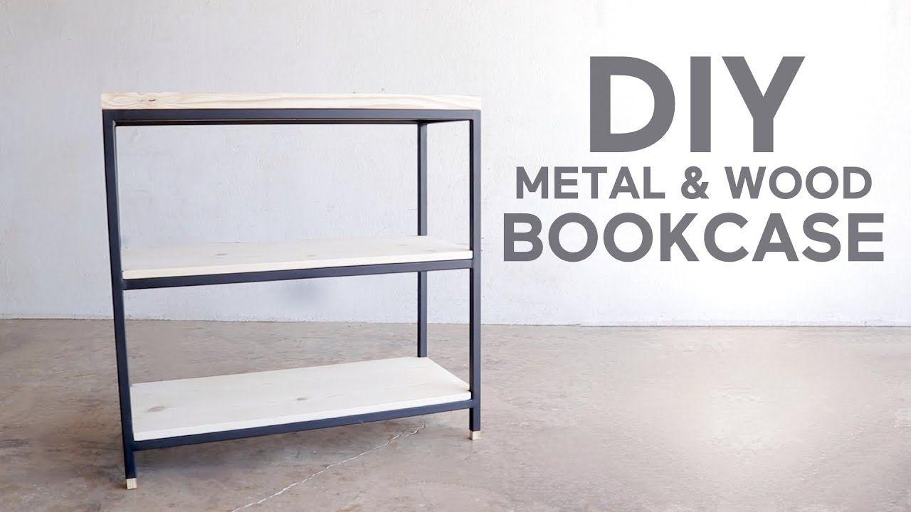 3 Tier Metal & Wood Book Shelf | Modern Builds | DIY ...