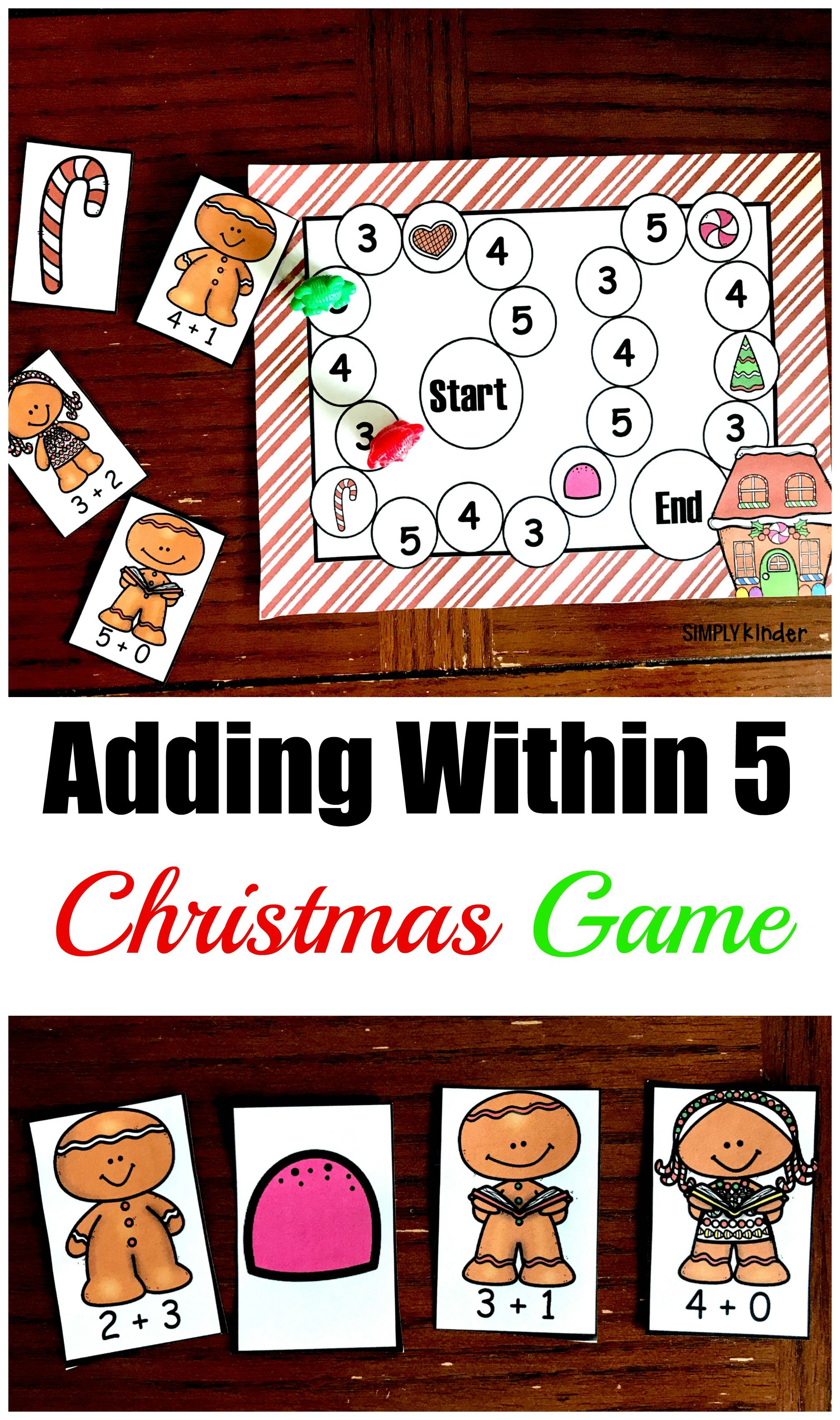 Here S A Free Adding Within Five Christmas Game
