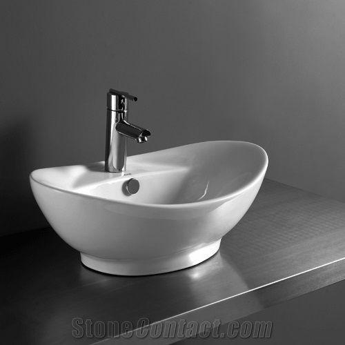 Bathroom Basin Sink Wash Acrylic Solid Surface High Glossy Stylish Sinks Amp