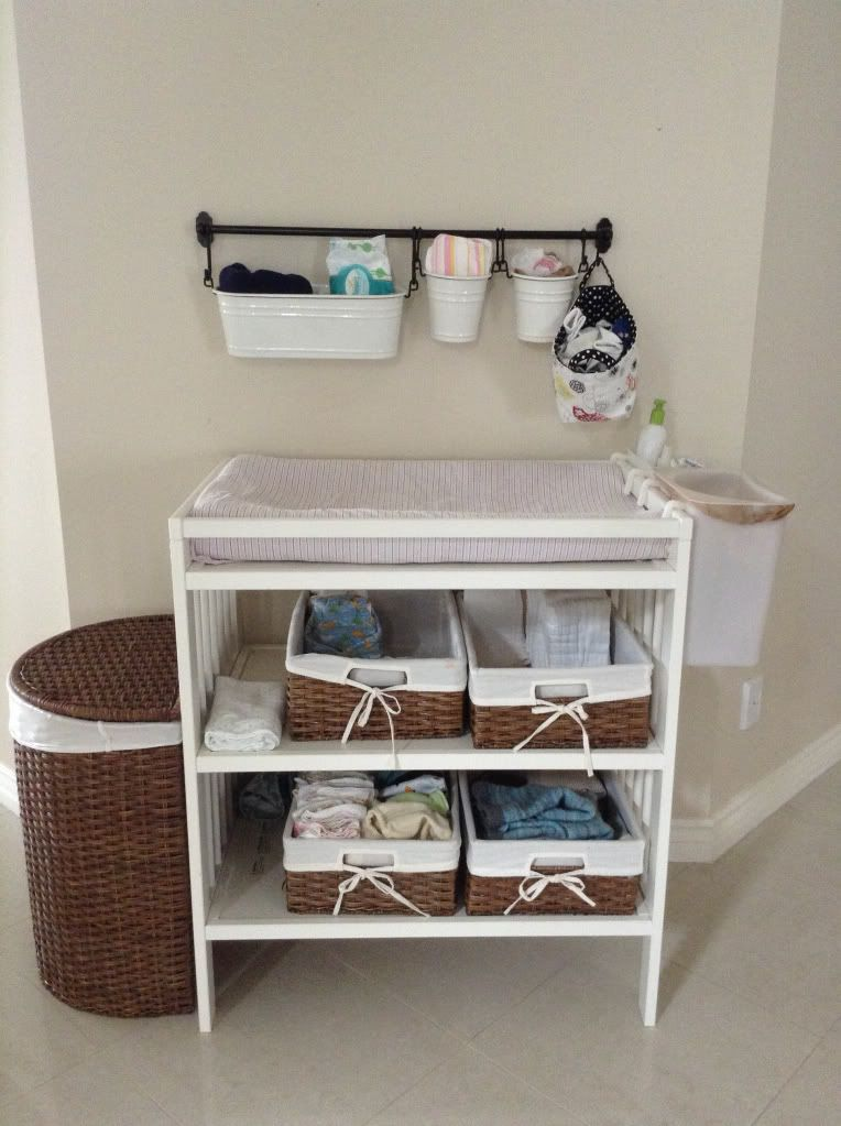 Ikea Changing table set up | חדרים יפים | Pinterest | Bañera bebe ...
