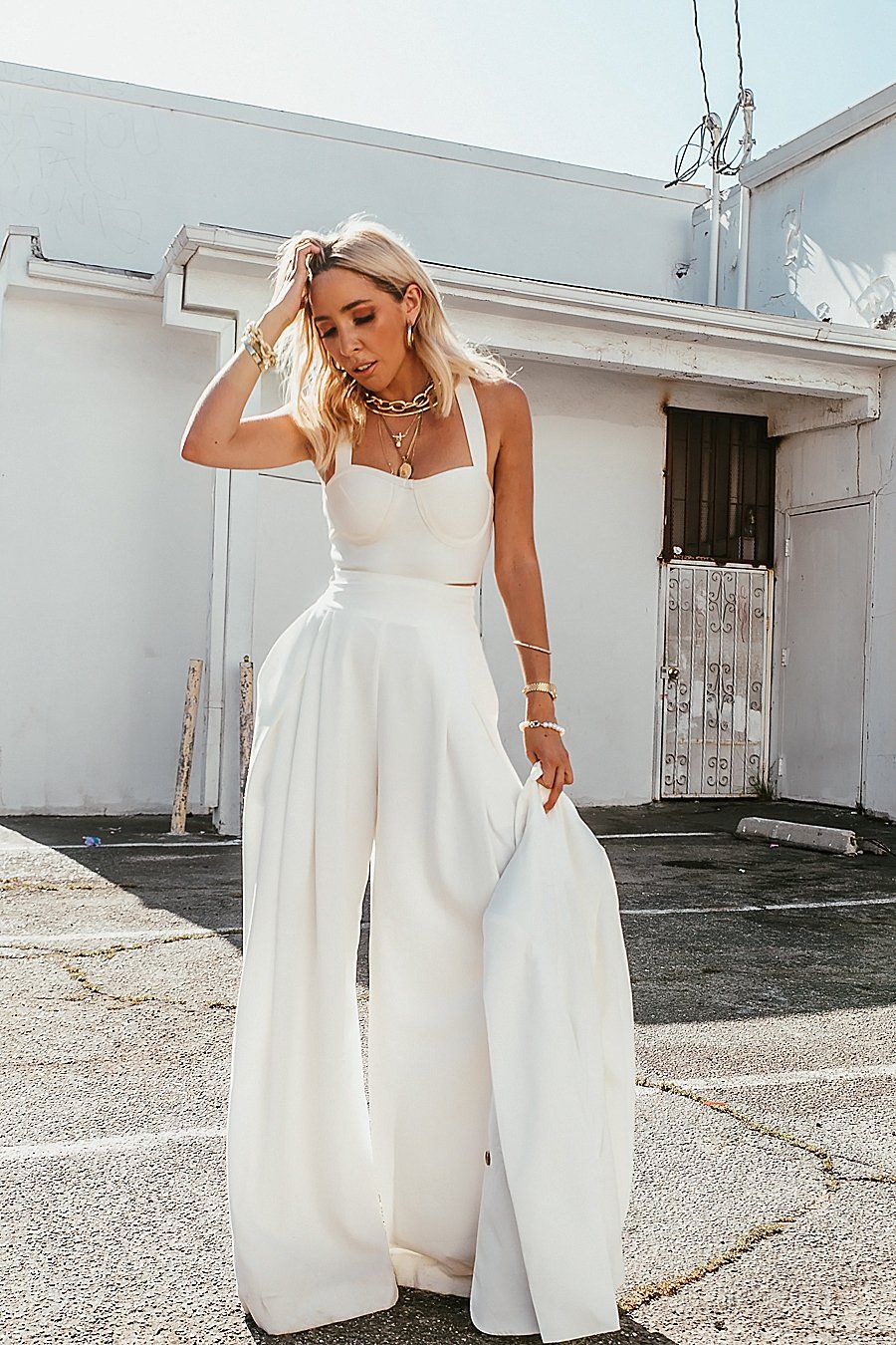 Raya High Waisted Wide Leg Pant White Pre Order In 2021 Wide Leg Pants Outfit High Fashion Outfits Wide Leg Pants [ 1350 x 900 Pixel ]