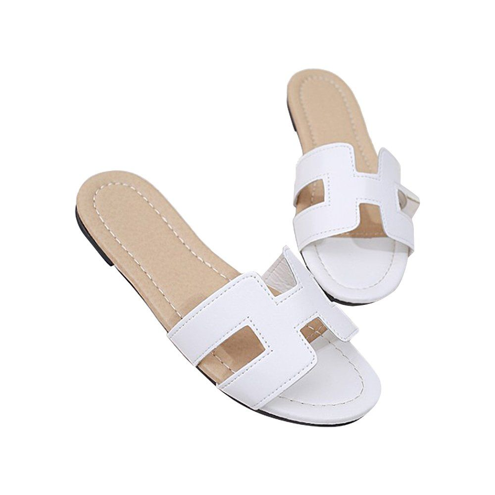 8c28f24cd HUI JIN SHOP Women Slides Sandals H Slippers Casual Open Toe Shoe   Very  nice of