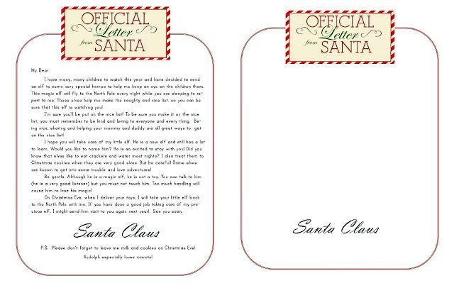 Lily  Thistle Dear Santa Some Merry Elves And Free Printables